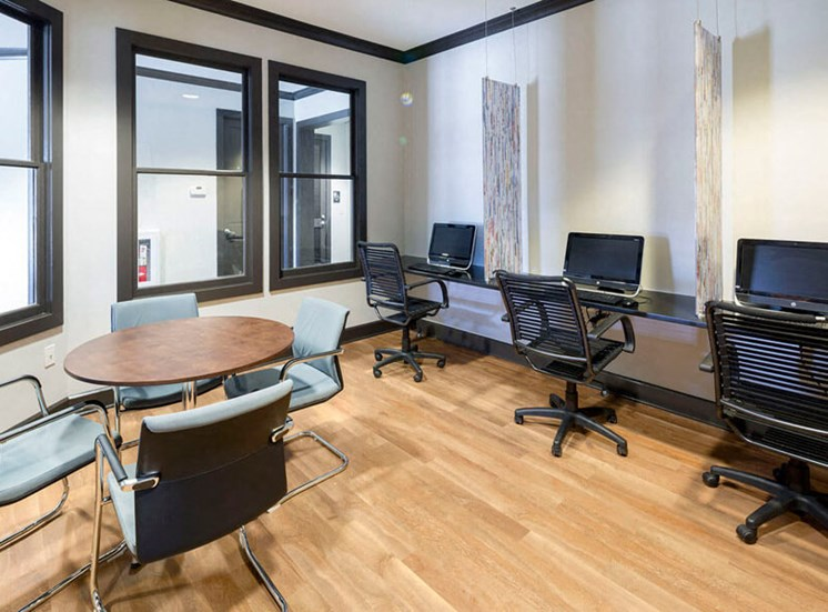 Working from home can be a breeze using our business center at Westwind Farms Apartments in Ashburn, VA