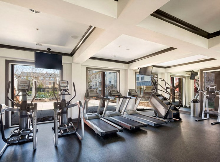 24 hour gym and fitness center at Westwind Farms Apartments in Ashburn, VA