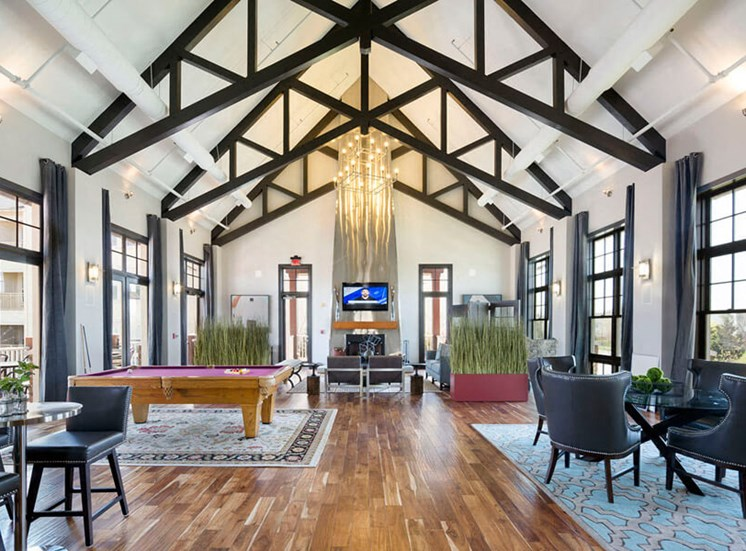Beautiful clubhouse with billiard table at Westwind Farms Apartments in Ashburn, VA