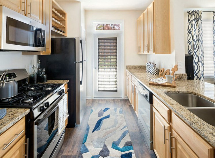 Kitchen area at Westwind Apartments in Ashburn, VA