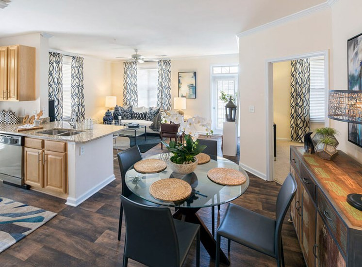 Open floorplans for entertaining at Westwind Farms Apartments in Ashburn, VA