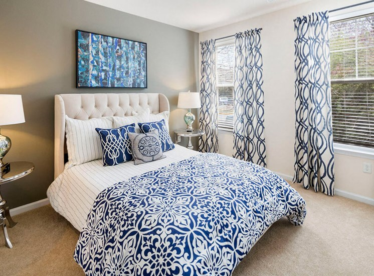 Beautiful master bedroom suites at Westwind Farms Apartments in Ashburn, VA