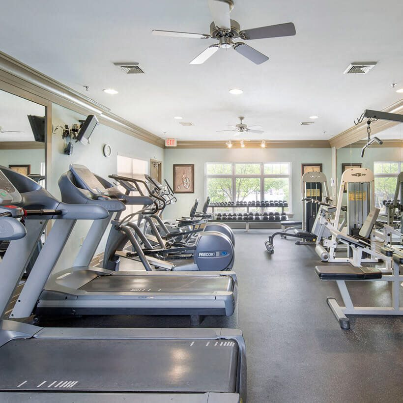 Fitness area at Riverside Station Apartments in Woodbridge, VA