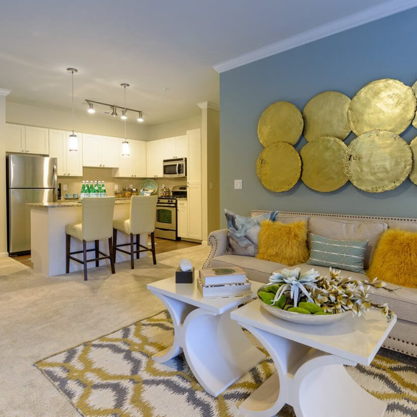 Open floorplan at Atley on the Greenway Apartments in Ashburn, VA
