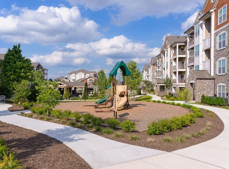Kid play area and playground at Atley on the Greenway Apartments in Ashburn, VA
