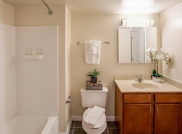 spacious bathrooms at The Alexander Apartments in Alexandria, VA