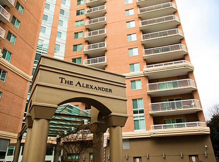 Free shuttle to metro station at The Alexander Apartments in Alexandria, VA