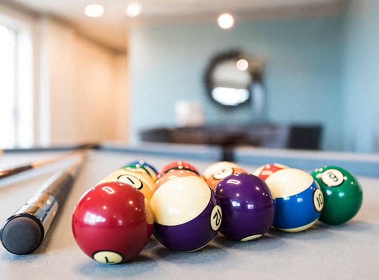 Billiard table at The Alexander Apartments in Alexandria, VA