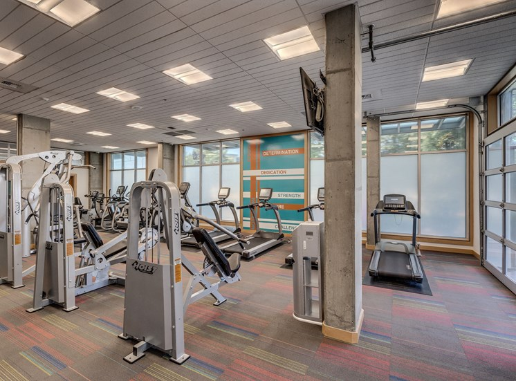 Fitness Center With Modern Equipment at Equinox, Seattle, WA, 98102