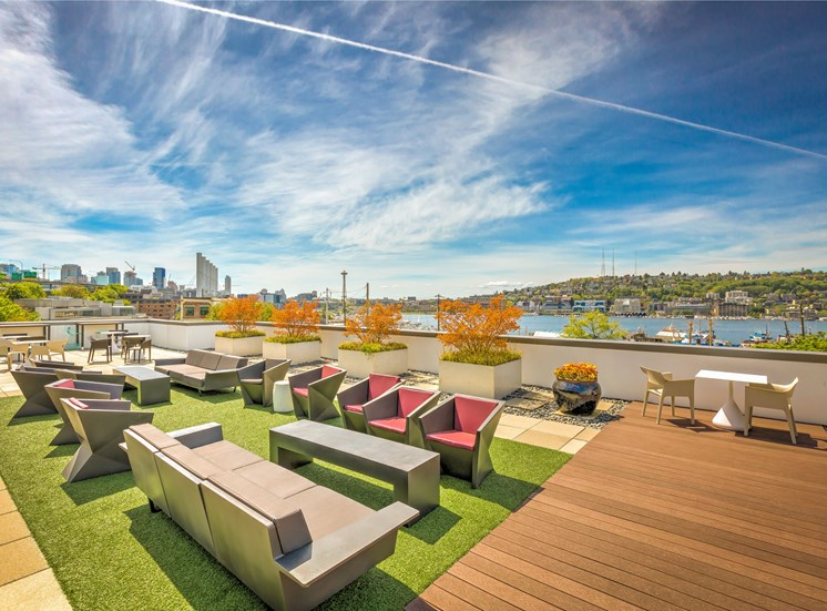 Enjoy Your Evenings In Rooftop Terrace Area at Equinox, Seattle, WA, 98102