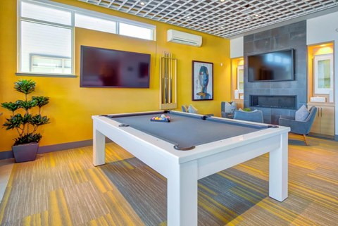 Billiard and Gaming Room at Elan Menlo Park, Menlo Park, California