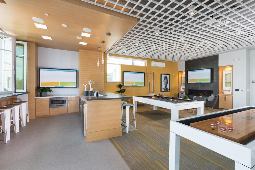Beautifully Remodeled Clubhouse at Elan Menlo Park, California