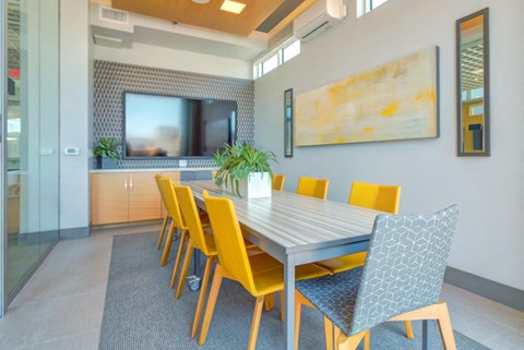 Conference Room with TV and Teleconferencing Capabilities at Elan Menlo Park, Menlo Park, CA, 94025