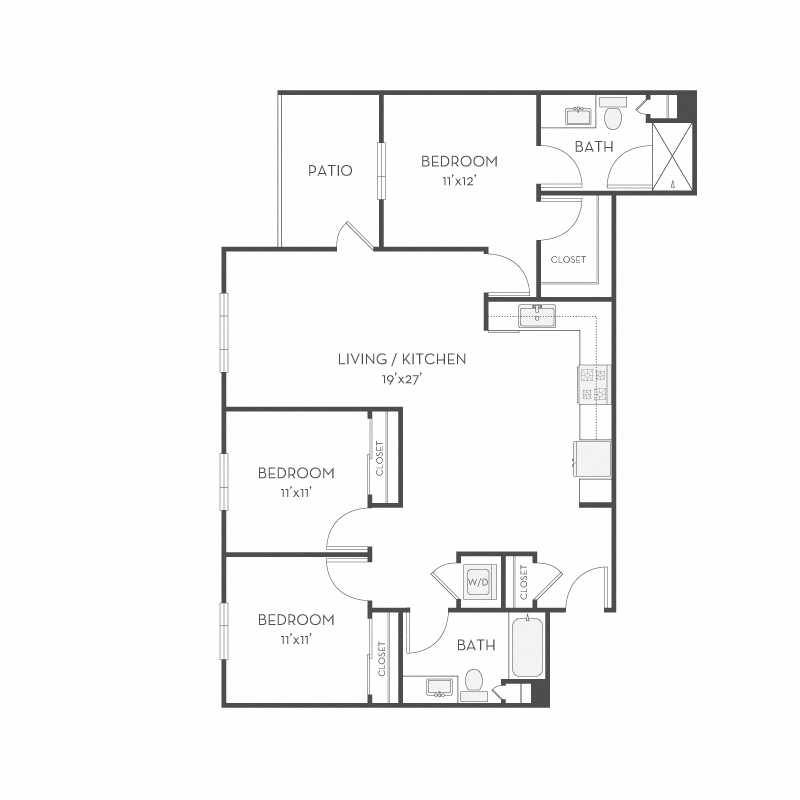 Floor plan at Elan Menlo Park, Menlo Park, California