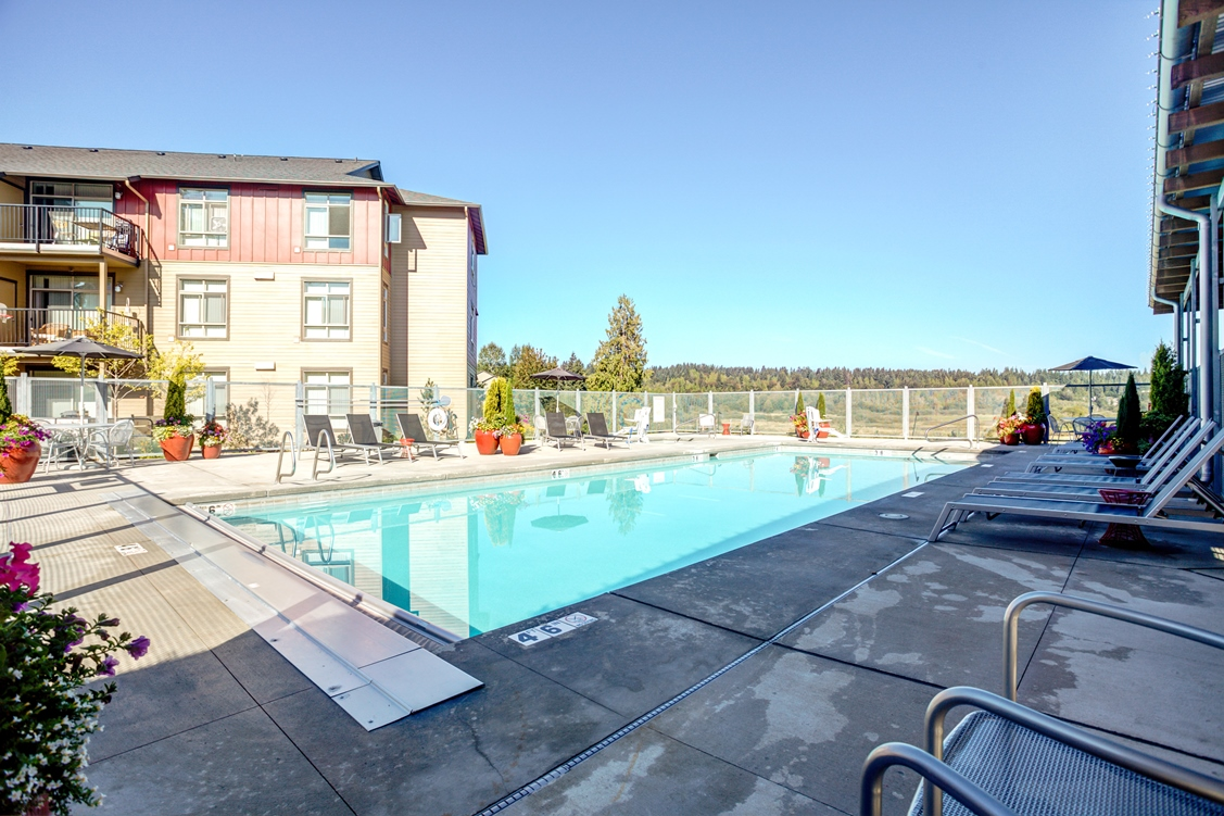 Lounging by the Pool at Bailey Farm, Bothell, WA, 98012