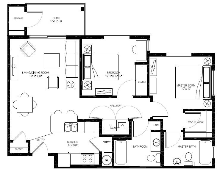 B2a 3D Floor Plan