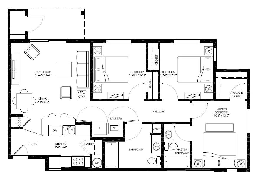 Floor plan at Bailey Farm, WA