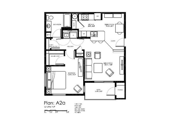 Floor plan at Bailey Farm, Bothell