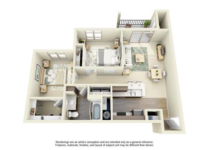 Floor plan at Bailey Farm, Bothell, 98012