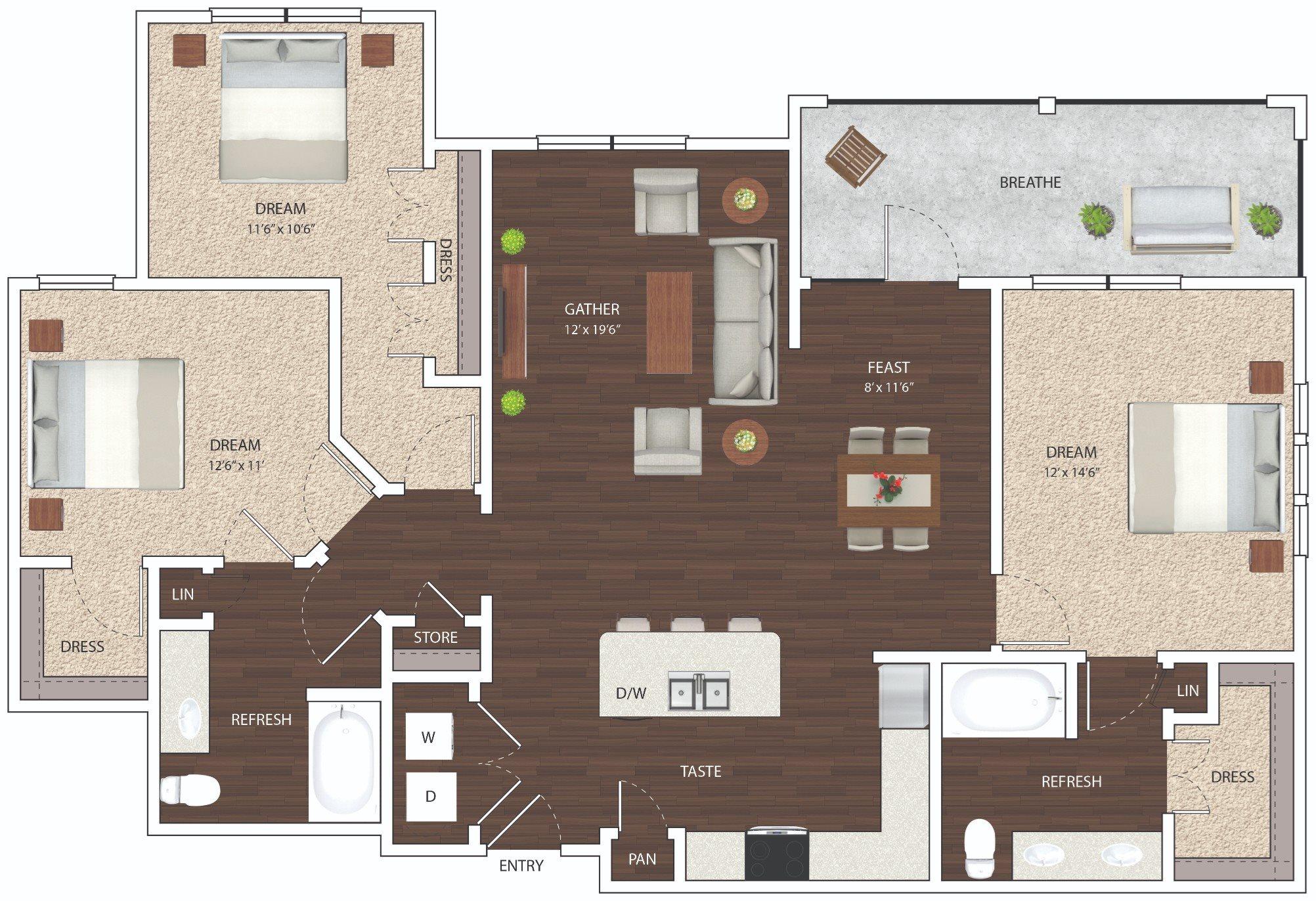 C1 - Phase I Floor Plan 13