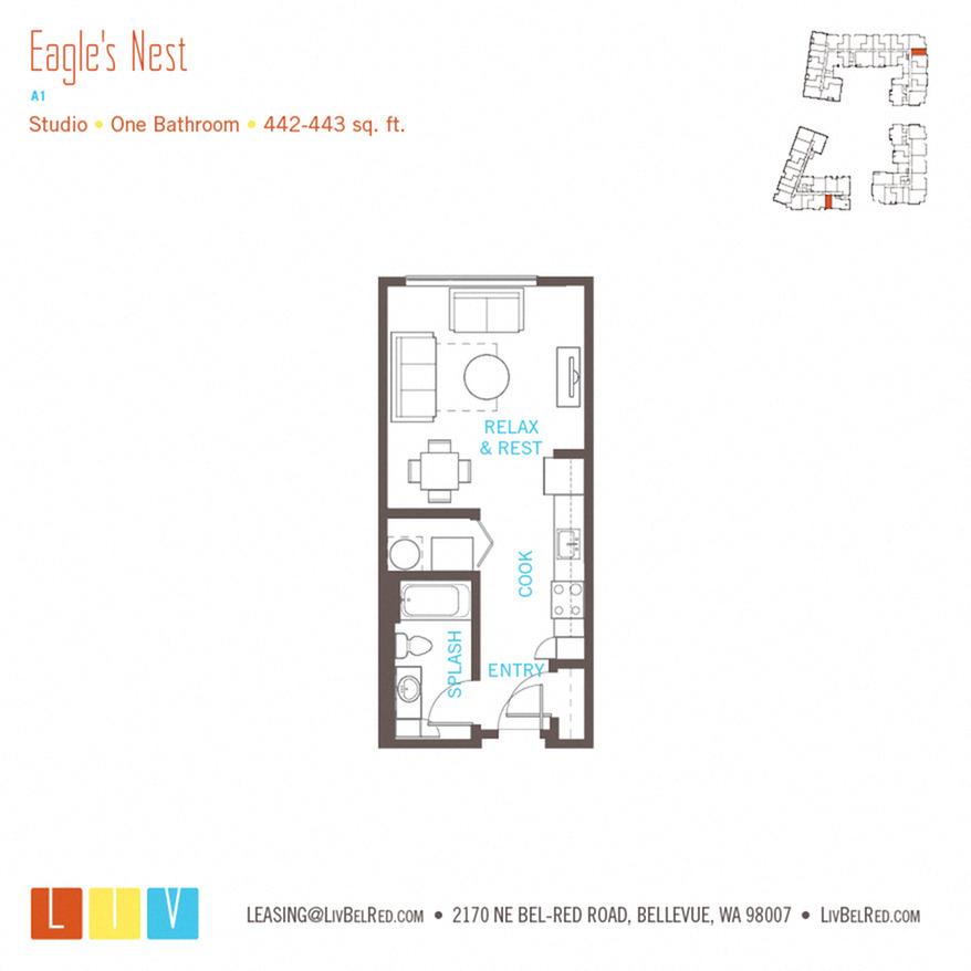 Studios 48 48 Bedroom Apartments In Bellevue WA Liv Apartments Awesome 2 Bedroom Apartments Bellevue Wa