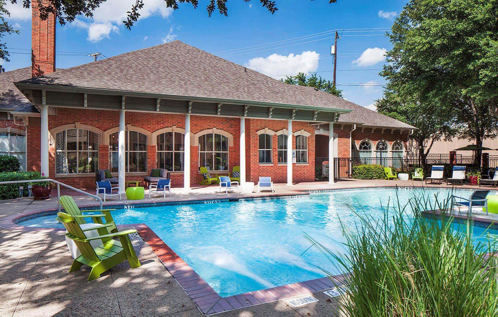 pool at The Brixton Apartments in Dallas, TX