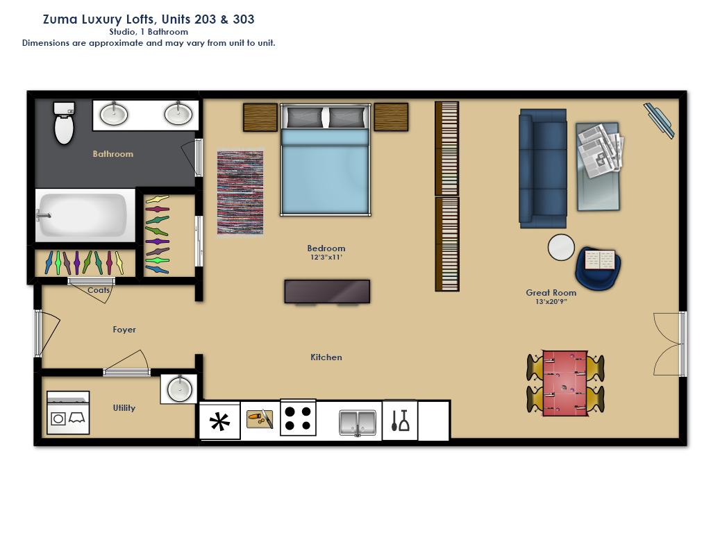 Studio Floor Plan 2