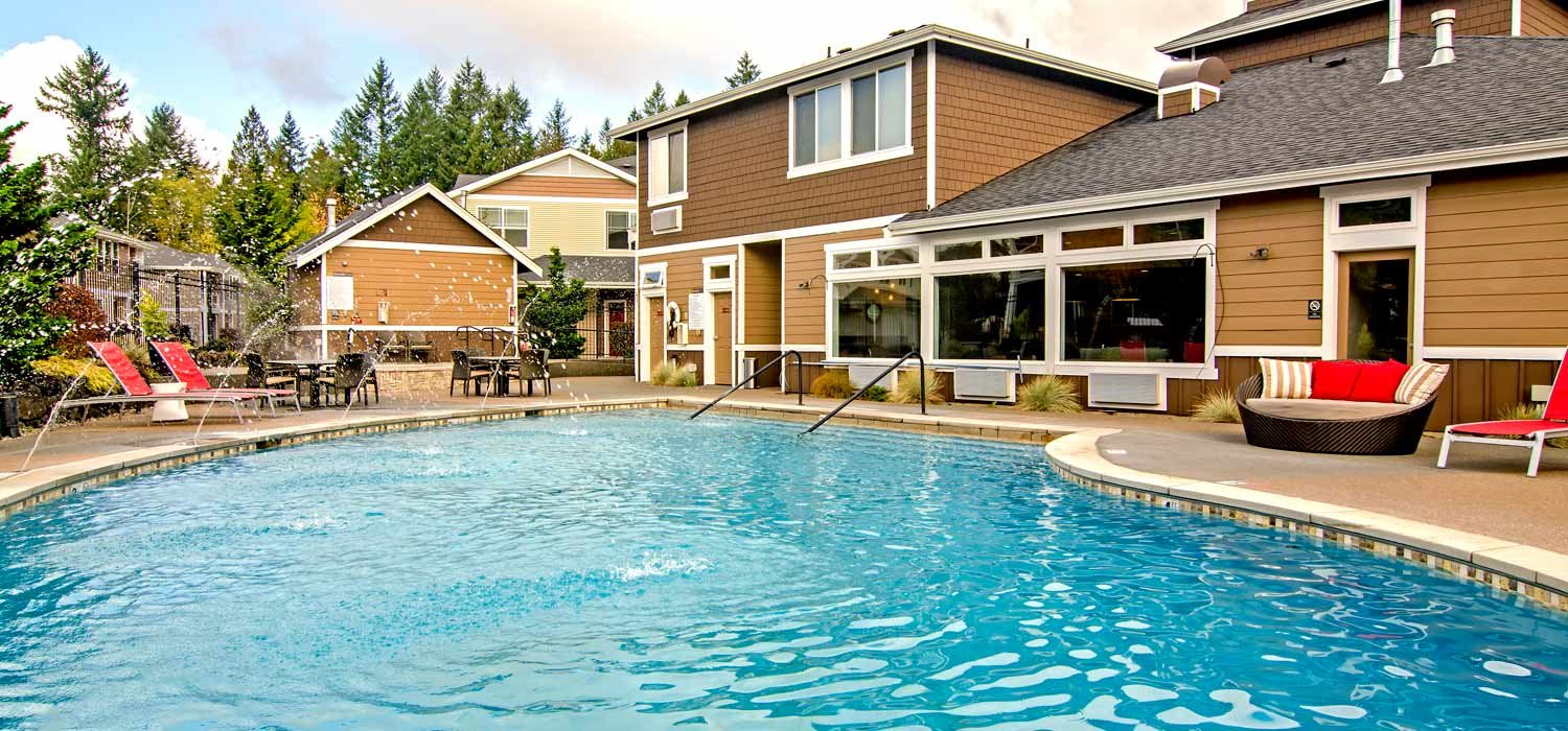 Sparkling Swimming Pool at The Villas at Kennedy Creek, Tumwater, WA