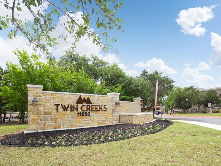 twin creeks sign