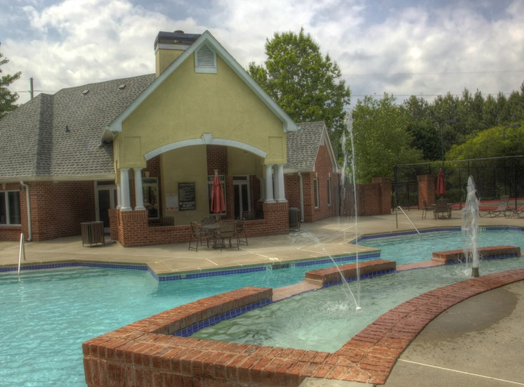 Luxury Apartments in Lawrenceville| Wesley St. Claire Apartments | Sparkling Pool with Water Feature