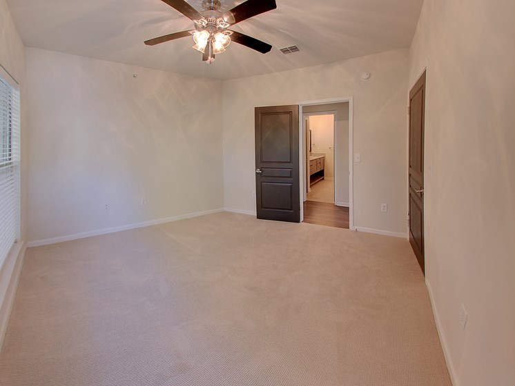 Luxury Apartments in Roswell | Wesley St. James Apartments | Bedrooms with Ceiling Fans