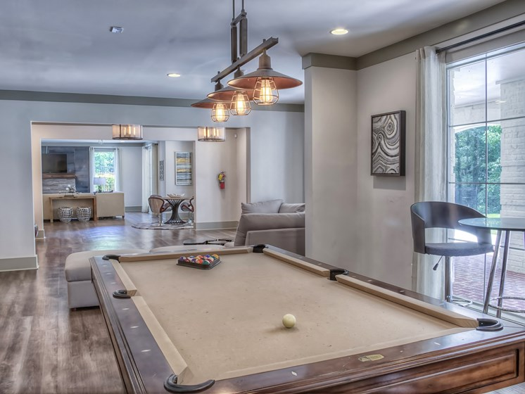 Luxury Apartments in Roswell | Wesley St. James Apartments | Resident Clubhouse with Billiards