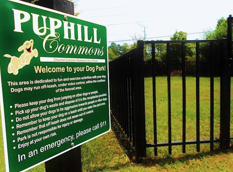 Churchill Commons Apartments in Aiken, SC 29803 puphill commons bark park dog park