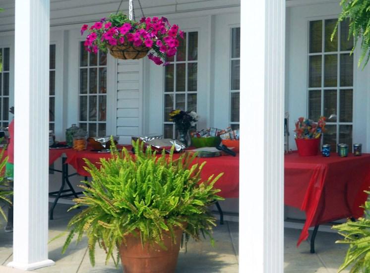 Churchill Commons Apartments in Aiken, SC 29803 pool veranda
