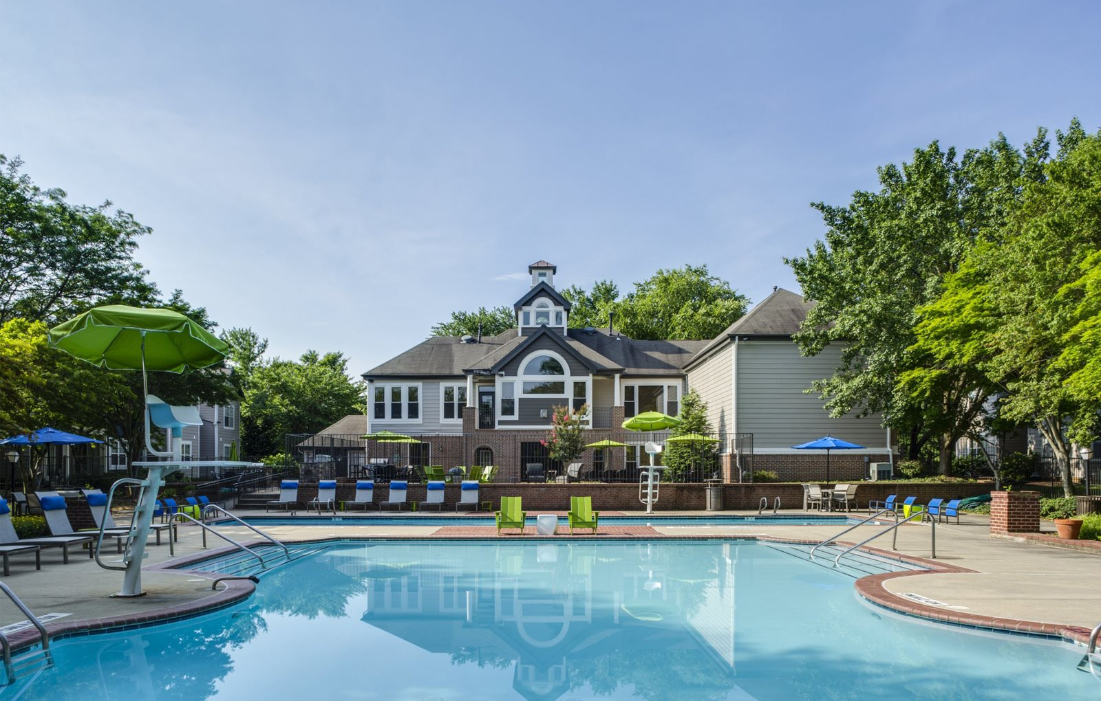 sparkling pool for Adler at Waters Landing Apartments in Germantown, MD