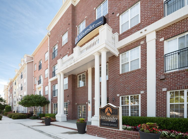 Leasing office exterior at The Alexander at Ghent in Norfolk, VA
