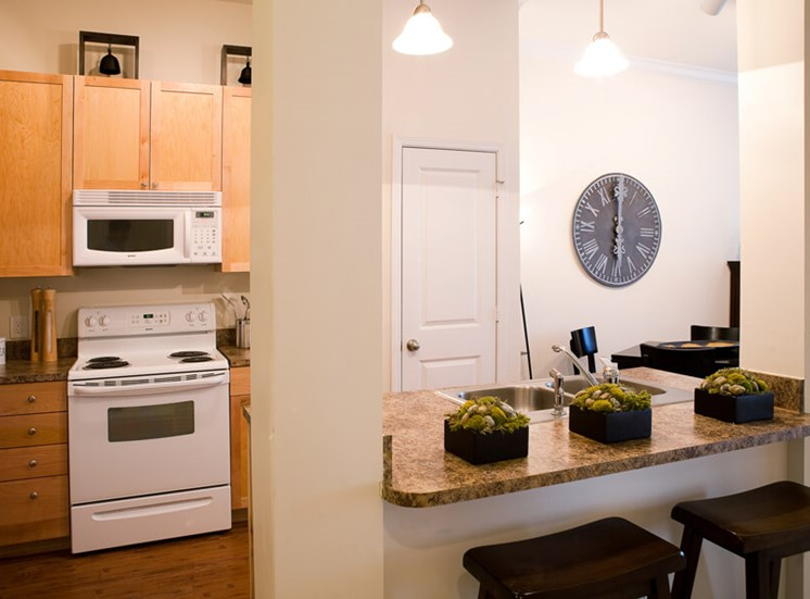 Walkable kitchen with pantry at The Alexander at Ghent in Norfolk, VA