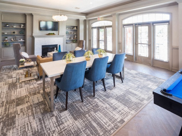 Community room for entertaining at The Belvedere Apartments in Richmond, VA