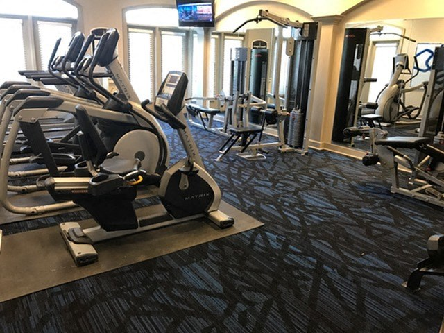 24 hour fitness center at  The Belvedere Apartments in Richmond, VA
