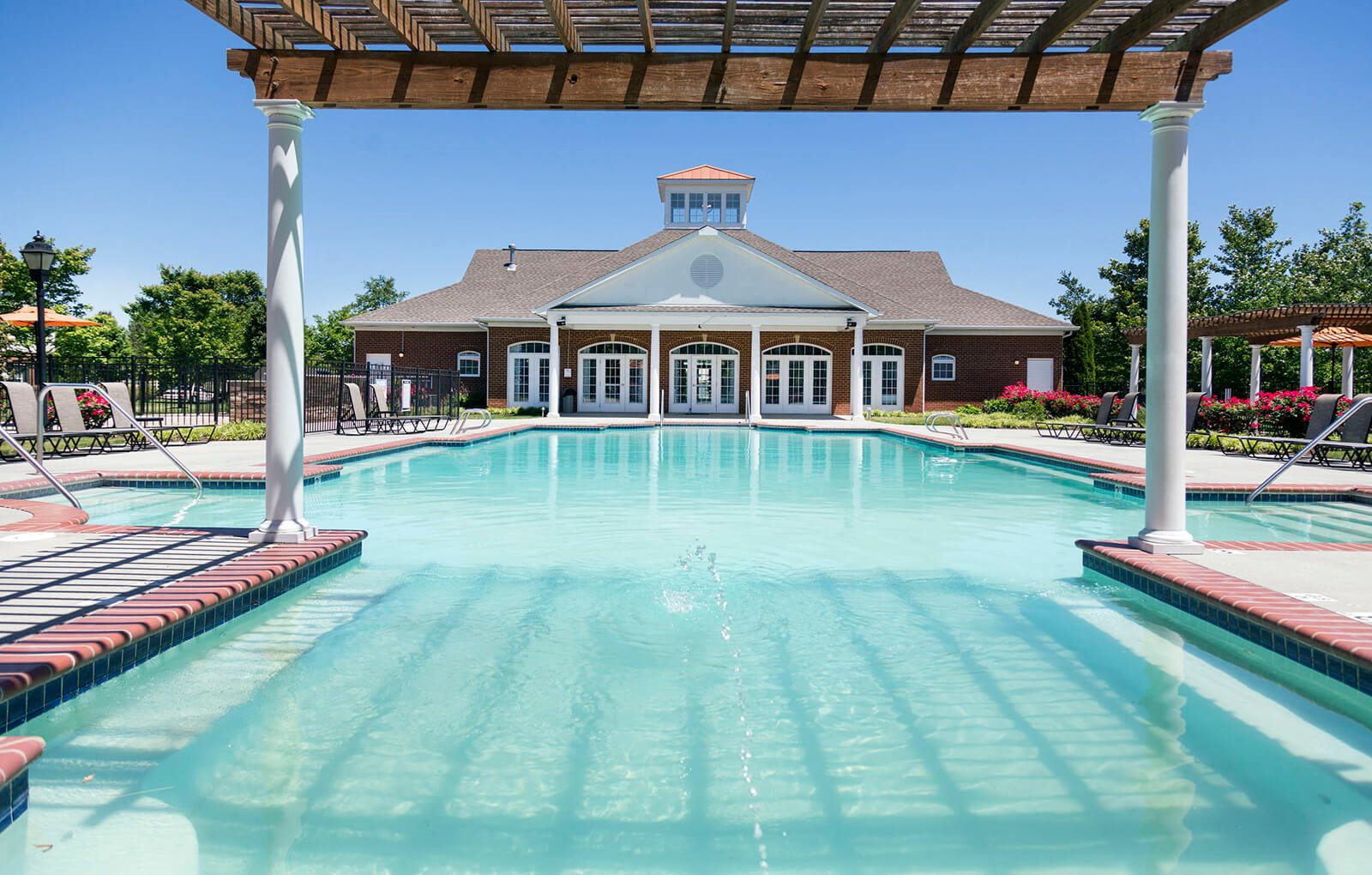 Pool at River Forest Apartments in Chester, VA