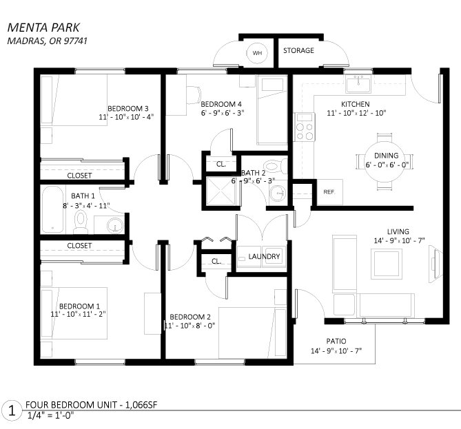 4 Bed Floor Plan 3