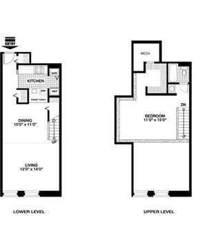 1 Bedroom 1 Bath - Loft