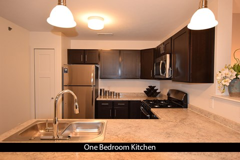 Kitchens With High-Quality Countertop at Copper Creek Apartment Homes, Maize, KS, 67101