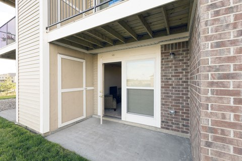 Enclosed, private storage at Strathmore Apartment Homes, West Des Moines, IA