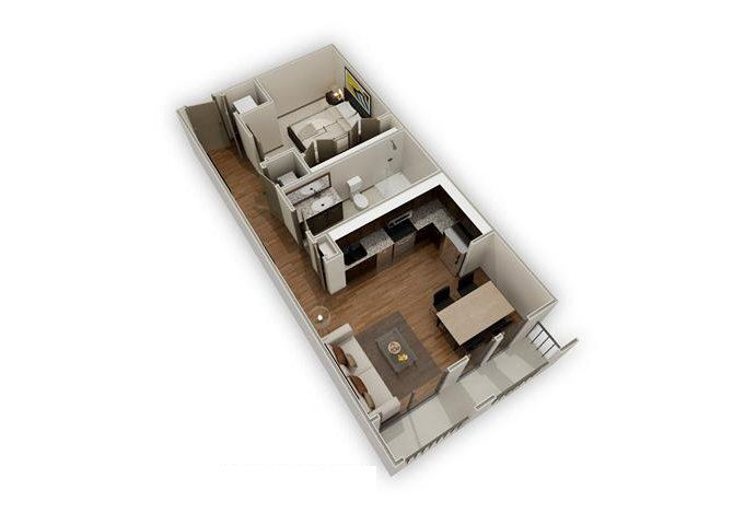 The Ansley - E1 floor plan.