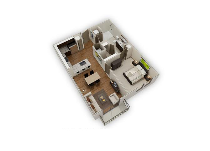 The Boulevard - A1 floor plan.