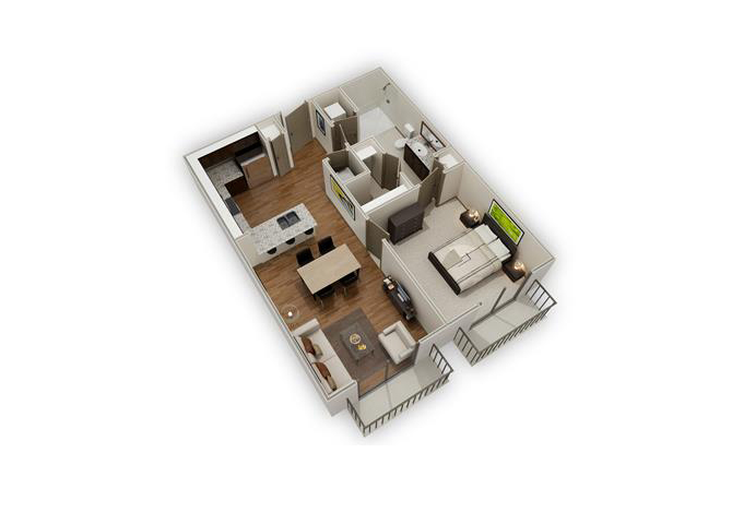 The Caslon - A1a floor plan.