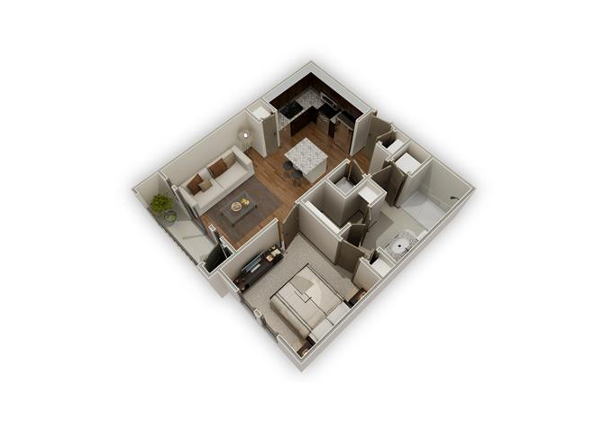 The Chandler - A2 floor plan.