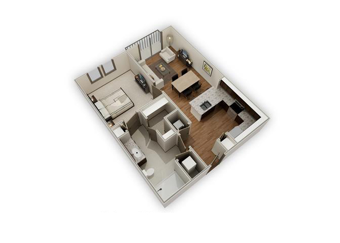 The Derek - A3 floor plan.