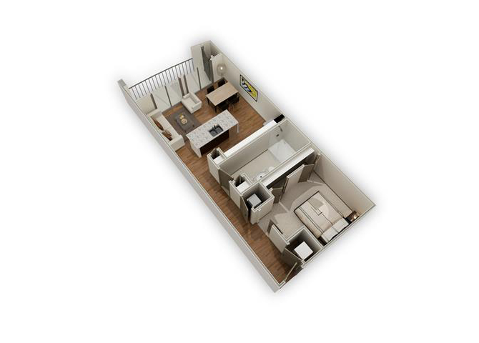 The District - A4 floor plan.